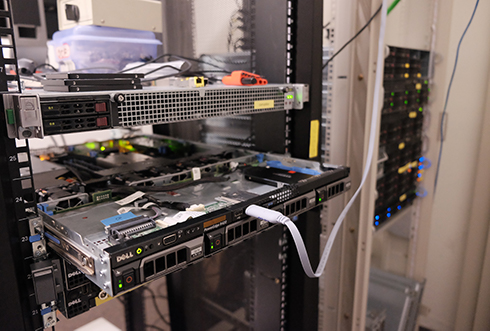 a photo of servers in the rack, 2019 Spring
